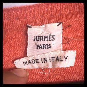 Hermès short sleeve cashmere top